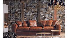 Hugh Leather Sofa | Domayne