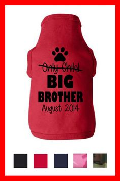 BIG BROTHER Dog Shirt Pregnancy Baby Reveal by TeesToPlease, $14.99