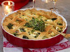 grönkålspaj med fetaost Apple Pie, Quiche, Veggies, Vegetarian, Snacks, Dinner, Eat, Breakfast, Desserts