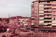 Koemarkt, Schiedam, The Netherlands. Begin jaren 60 vorige eeuw