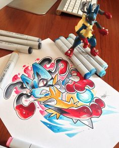 Mega Lucario drawing (Not mine)