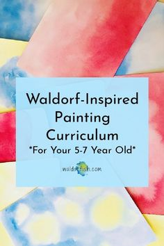 Ready to de-mystify painting? This online, video-based program provides a practical, fun, and totally do-able painting curriculum for your (home)school year. From waldorfish.com | Wet on wet watercolor | Waldorf watercolor | early childhood art | preschool Waldorf Curriculum, Waldorf Education, Wet On Wet Painting, Painting For Kids, Painted Jars, Painted Paper, Painting Lessons, Art Lessons, Brian Wolfe