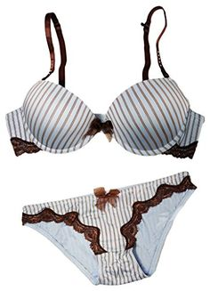 04b33a95ec Capricia Odare Sexy Demi Padded PushUp Bra and Panty Set 36BMedium   Visit  the image link