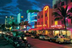 Night Life in Miami Florida USA