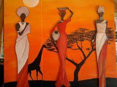 Resultado de imagen para cuadros con negras africanas pintadas