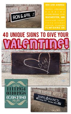 40 Unique Signs to Give to Your Valentine | SignsByAndrea.com