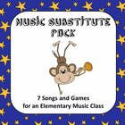 A collection of 7 songs with games that can be easily left for a substitute teacher in an elementary music classroom... FREE