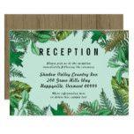 Forest Greenery Wedding Reception Enclosure Card