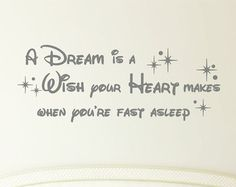 A Dream is a Wish Your Heart Makes Vinyl Decal by TheVinylCompany