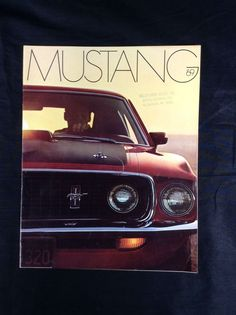 Original 1969 Ford Mustang Dealer Sales Brochure Mach 1 Grande