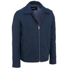 Black Rivet Twill Fabric Finish Jacket