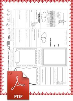 Printable coloring booklet just for kids to give to their grandparents! Fill in the blanks, decorate with plenty of color and sparkle, and then put the pages together! | Grandparent Gifts from Children | Coloring Pages | Printables | Crafts for kids | Elf on the Shelf
