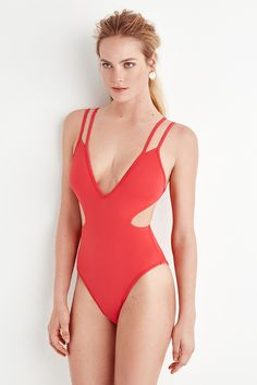 #redswimsuit #swimsuit
