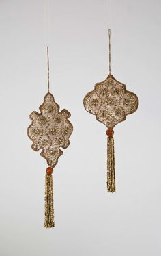 """Katherine's Collection The Gilded Seasons Collection Twelve 9"""" Embroidered Medallion Ornaments Free Ship"""