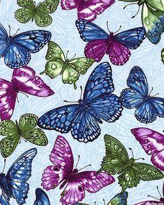 Butterfly Forest - Fluttering Gems - Powder Blue