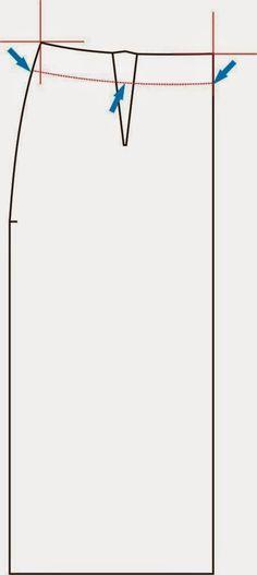 Aí você modelou a sua saia reta básica tudo certinho, e depois do molde pronto quer diminuir na altura, mas se vê num dilema, porque nã...