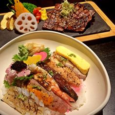 "113 Likes, 5 Comments - Ratih Rahardjo (@ratihrahardjo) on Instagram: ""Boun Appetito ❤️ @gyo.id #Dinner #Yummy #Delicious #Chirashi #ChirashiAburi #Aburi #Japanese #Steak…"""