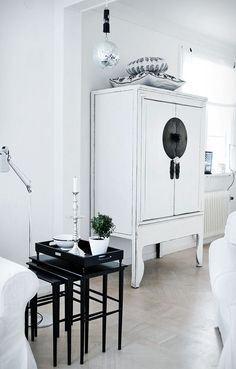 white cabinet. Interior / Home / Decor / Design / Furniture / Accessories / Contemporary / Transitional / Modern