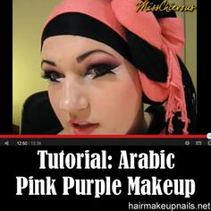 I've never seen this before - Arabic pink purple makeup