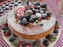 Festa no Parque – Tema Picnic , bolo pelado - naked cake