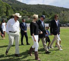 Princess Charlene and Prince Albert at Monte-Carlo Polo Clup
