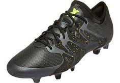 adidas X 15.1 FG/AG Soccer Cleats - Black and Solar Yellow