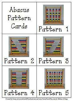 20 free abacus pattern cards [printable]