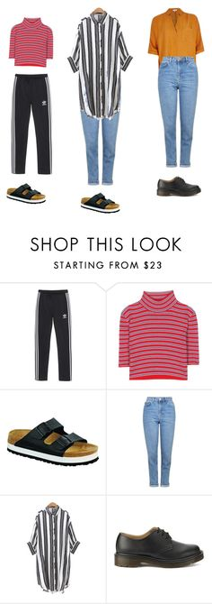 """""""Outfit idea"""" by haawnah on Polyvore featuring adidas Originals, Alessandra Rich, Birkenstock, Topshop, Chicnova Fashion, Dr. Martens and River Island"""