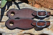 Pinetree Leather Dark Oil Brown Finished Slobber Straps with Stainless Buckles