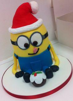 christmas Minion  Cakes | Home >> Seasonal >> christmas >> 3D Minion Cake