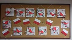 Crafts For Kids, Arts And Crafts, Art Classroom, Independence Day, Techno, Poland, Advent Calendar, Red And White, Flag