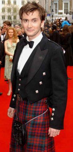 Men In Kilts. Dr. Who star David Tennant.