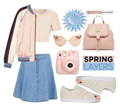 """Wardrobe Basics: Spring Jacket"" by leslee-dawn ❤ liked on Polyvore featuring River Island, Maison Scotch, adidas Originals, Essence and Linda Farrow"