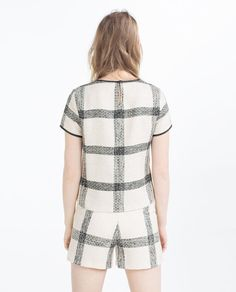 Image 4 of CHECK TOP from Zara