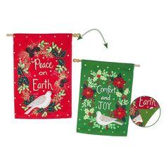 Evergreen Flag Peace Comfort & Joy House Flag - 13S4621FB