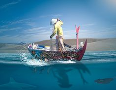 """Check out new work on my @Behance portfolio: """"Catching Fish"""" http://be.net/gallery/33356089/Catching-Fish"""