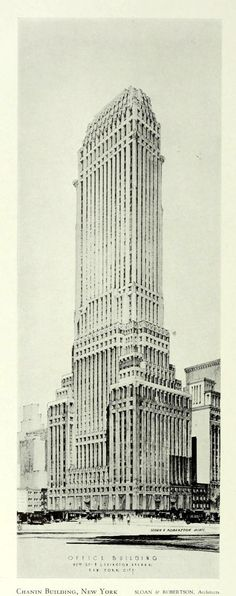 Design for the Chanin Building, New York City