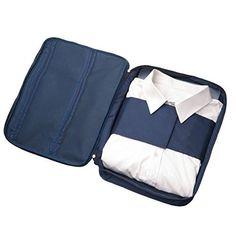 isuperb® Multifunktions-Shirt Organizer Travel Krawatte Tasche für Gepäck Verpackung Wasserdicht Tasche für Herren Grau