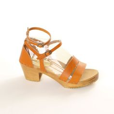 Ankle Straps Med Tangerine, $147, now featured on Fab.