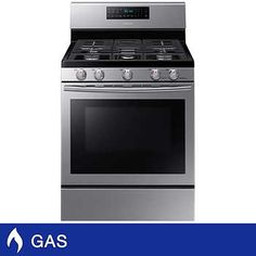 Samsung Freestanding GAS Range with Convection Cooking in Stainless Steel Convection Cooking, Oven Cooking, Cooking Recipes, Samsung, Gas Double Oven, Ranger, National Electric, Lac Saint Jean, Single Oven