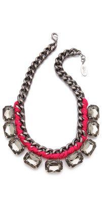 Noir Jewelry Nightfall Leather Bib Necklace   SHOPBOP