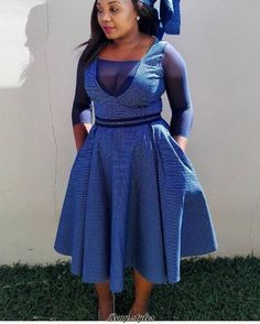 Modern Lesotho Seshoeshoe Designs 2019 - fashionist now African Print Dresses, African Dresses For Women, African Print Fashion, Africa Fashion, African Wear, African Attire, African Fashion Dresses, African Prints, Ghanaian Fashion