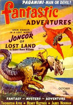 J. Allen St. John's cover for the October 1940 issue of Fantastic Adventures was instrumental in saving the magazine from cancellation. Fantastic Adventures was an American pulp science fiction magazine, published from 1939 to 1953 by Ziff-Davis. https://www.google.co.uk/search?q=Fantastic+Adventures+pulp&biw=1366&bih=599&tbm=isch&tbo=u&source=univ&sa=X&ei=m8ohVdaSG8XkaNa8gvgG&ved=0CCwQsAQ&dpr=1