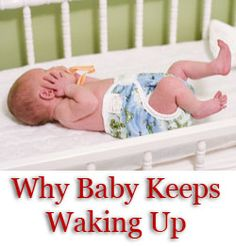 A discussion of the common reasons that babies wake up at night, broken down by newborns and older babies, with advice on how to fix them. My Baby Girl, Our Baby, Babyshower, Baby Health, Newborn Care, Everything Baby, Baby Time, First Baby, Baby Hacks