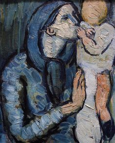 Picasso, Mother and Child by a Fountain, 1901 (detail)