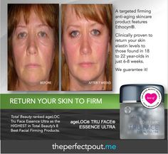 Did you know ageLOC® Tru Face® Essence Ultra was voted one of the top facial firming products by TotalBeauty.com? ageLOC® Tru Face® Essence Ultra, formulated with Ethocyn®, targets the sources of aging that lead to the loss of firmness. Ethocyn® enhances elastin production, resulting in improvement in facial and neck contours. Ethocyn® studies have been conducted on different ethnic skin types with similar results—returning skin elastin levels to those found in 18 to 22-year-olds.