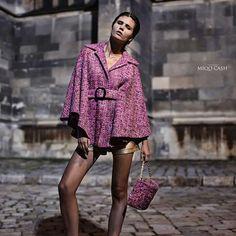 Wool cape and matching handbag by #jennyjeshko   Production #sapphire_models   Photo #miqo_cash  #handmade #onepieceonly #unique #fashion #fashionaccessory #MadeInSlovakia #MadeInEurope