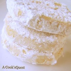 A Cook's Quest: Lemon Meltaways.  Easy cookie recipe that you roll into a log and slice.