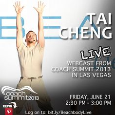 Tai Cheng LIVE webcast from #CoachSummit 2013 in Las Vegas Friday, June 21st 2:30pm-3:00pm