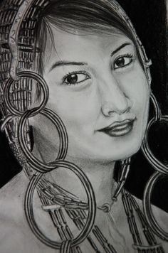 A tangkhul lady in traditional attire.